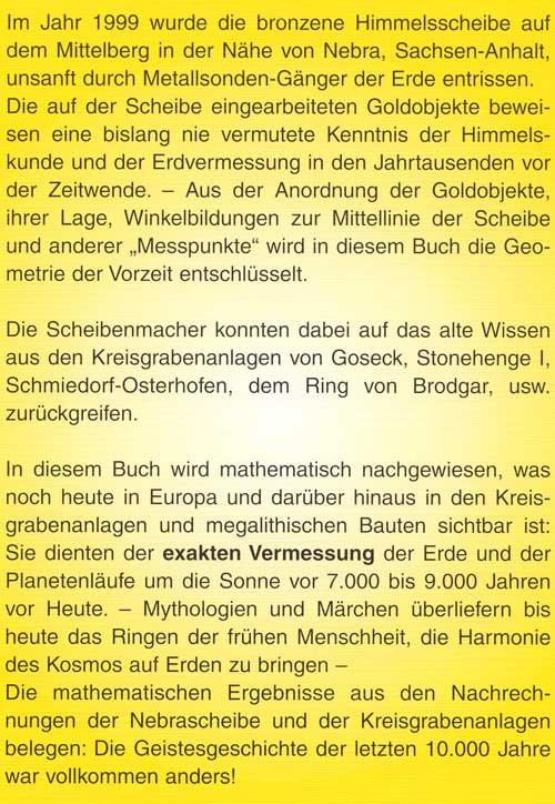 Oswald Tränkenschuh Die Scheibe von Nebra - Büchervorstellungen